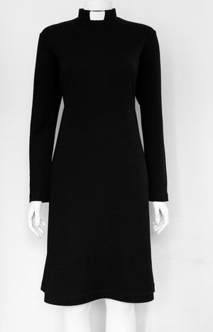 ADA-dress black wool