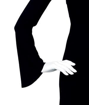 HULDA-dress black in wool